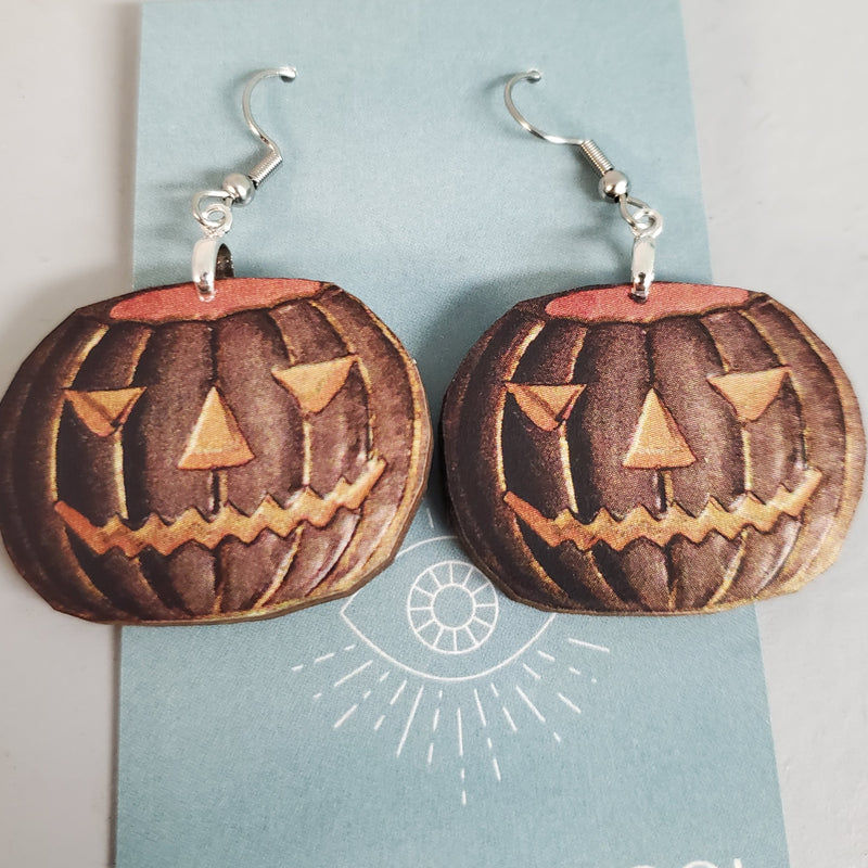 Dark Pumpkin Earrings
