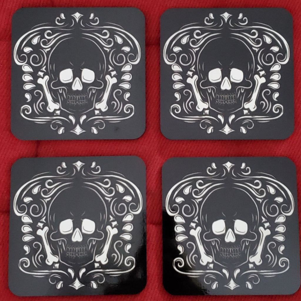 gothic home decor darkothica skull coasters black and white coasters