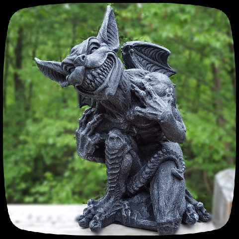 gargoyle statue halloween decoration alternative home decor gothic home decor