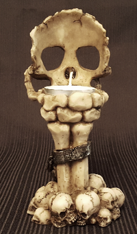 skull candle holder home decor gothic halloween decoration