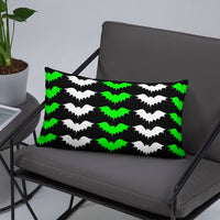 Darkothica green and black bat throw pillow bat home decor gothic home decor halloween decoration