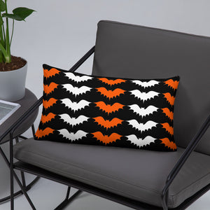 Darkothica orange and black bat throw pillow bat home decor gothic home decor halloween decoration
