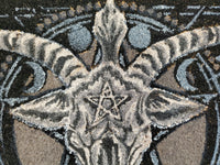 baphomet doormat door mat outdoor decor alternative decor moon