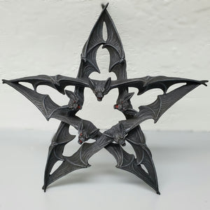 darkothica bat pentagram wall decor plaque vampire bats gothic home decor
