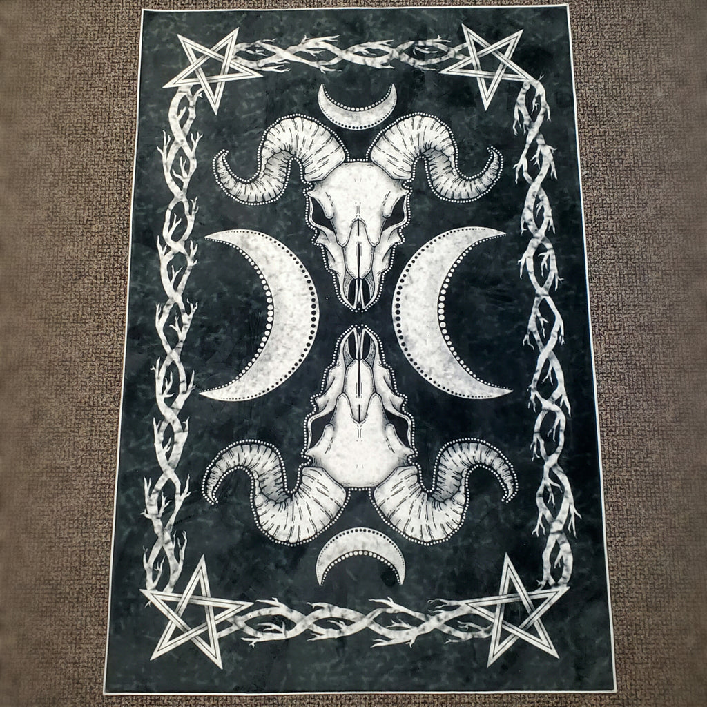 darkothica goat skull area rug dark gothic decor