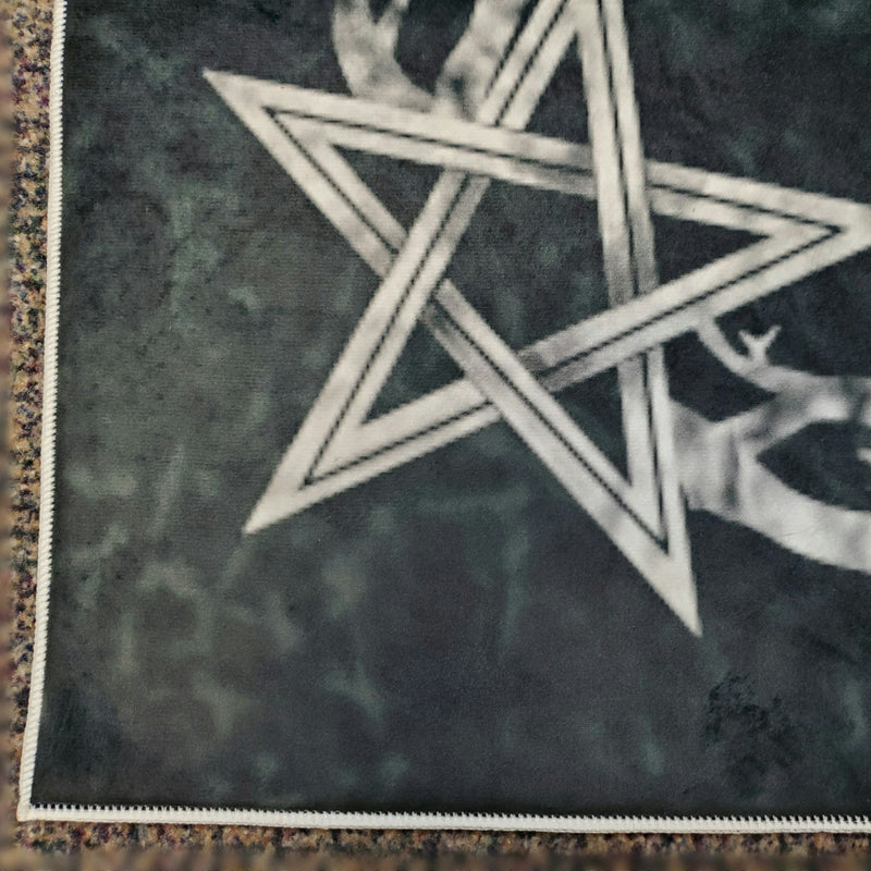 darkothica goat skull area rug dark gothic decor pentagram