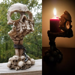 Skull tealight candle holder skeleton candle holder skull home decor gothic alternative home decor
