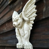 wall white gothic gargoyle wall decor outdoor decor