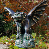 chained gargoyle iron finish outdoor decor gargoyles