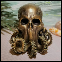 cthulhu skull statue statuary octopus skull statue horror home decor