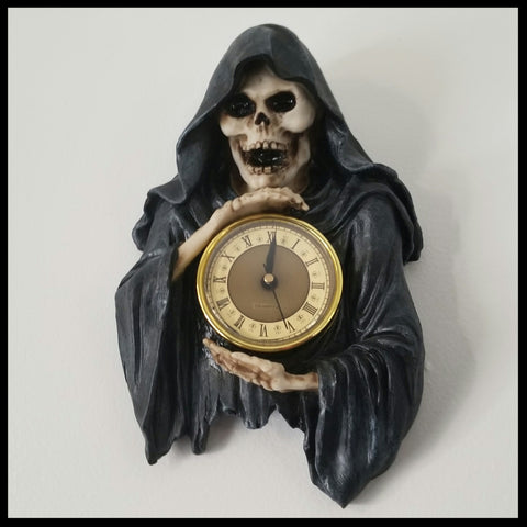 skeleton skull clock skull decor skulls skeletons wall decor gothic home decor grim reaper clocks