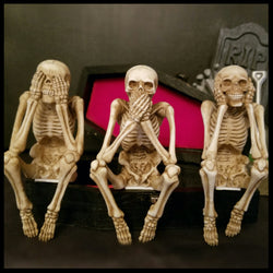 SKELETONS SEE NO SPEAK NO HEAR NO EVIL SKELETONS
