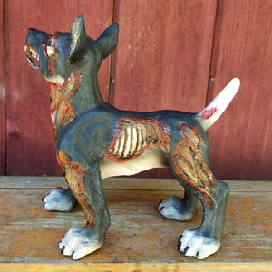 zombie dog statue halloween decor