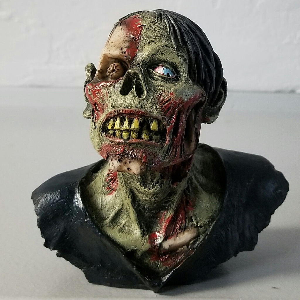 zombie bust halloween decor
