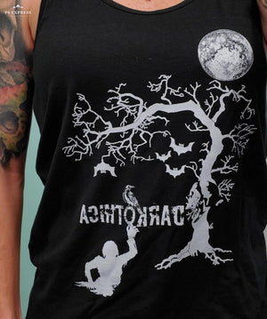 darkothica brand tshirt t-shirt bats moon shirt creepy shirt