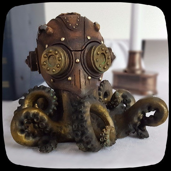 Octopus Steampunk Curio box home decor octopus home decor steampunk