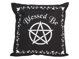 Witch pillow blessed be wiccan decor wicca decor pentacle decor witch cushion