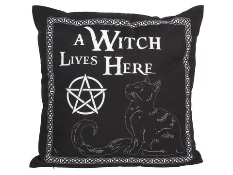 A Witch Lives Here Pillow