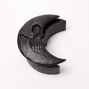 Crescent Moon Skull Box-Black