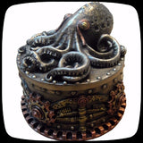 steampunk octopus small curio box gift idea