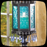 lantern gothic home decor blue crystal