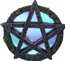 wiccan wicca pentagram mirror wall decor