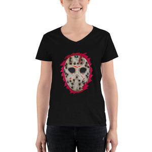 Jason Mask Women's V-Neck T-Shirt