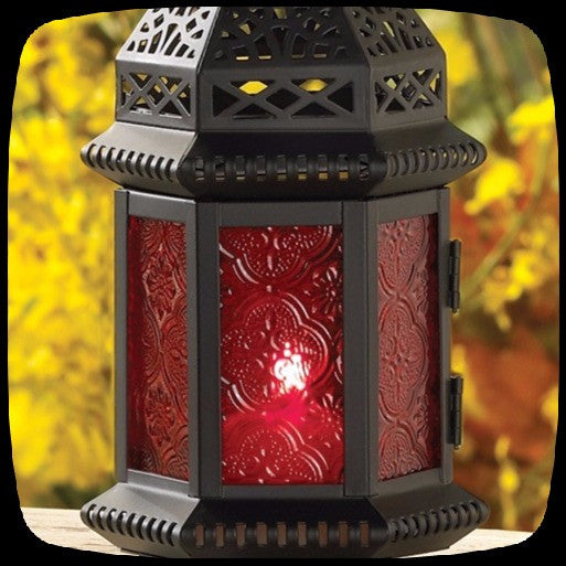 lantern red assorted white green rustic