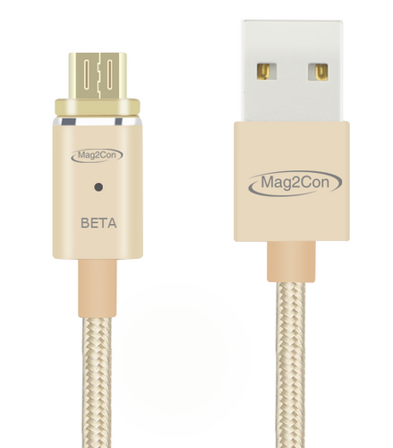 Gold Beta/Micro USB Tip Magnetic Cable for Andriod