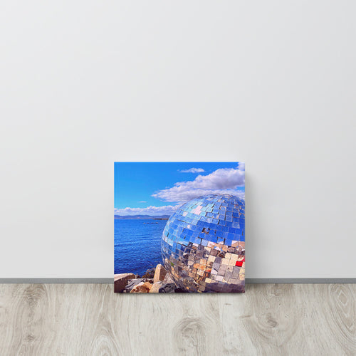 Cape Town Vibes Disco Ball by the beach Canvas