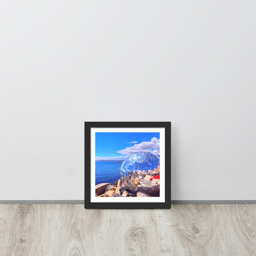 Disco Ball on the Beach - Cape Town Vibes - Framed poster