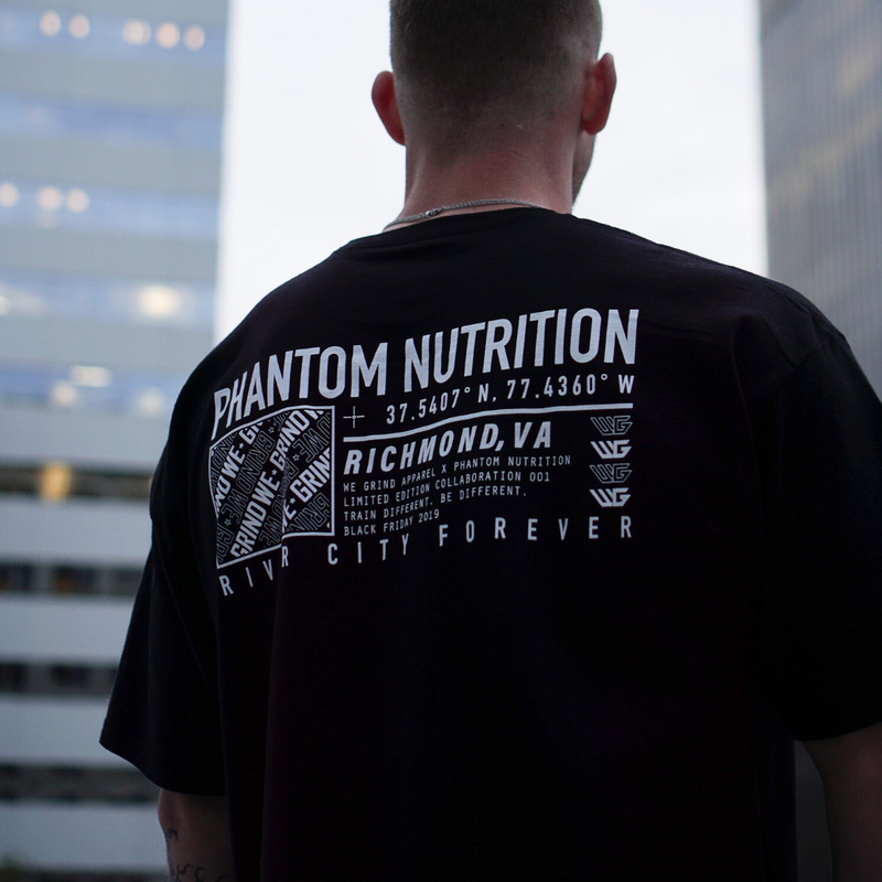 Phantom Nutrition x We Grind Collab Tee