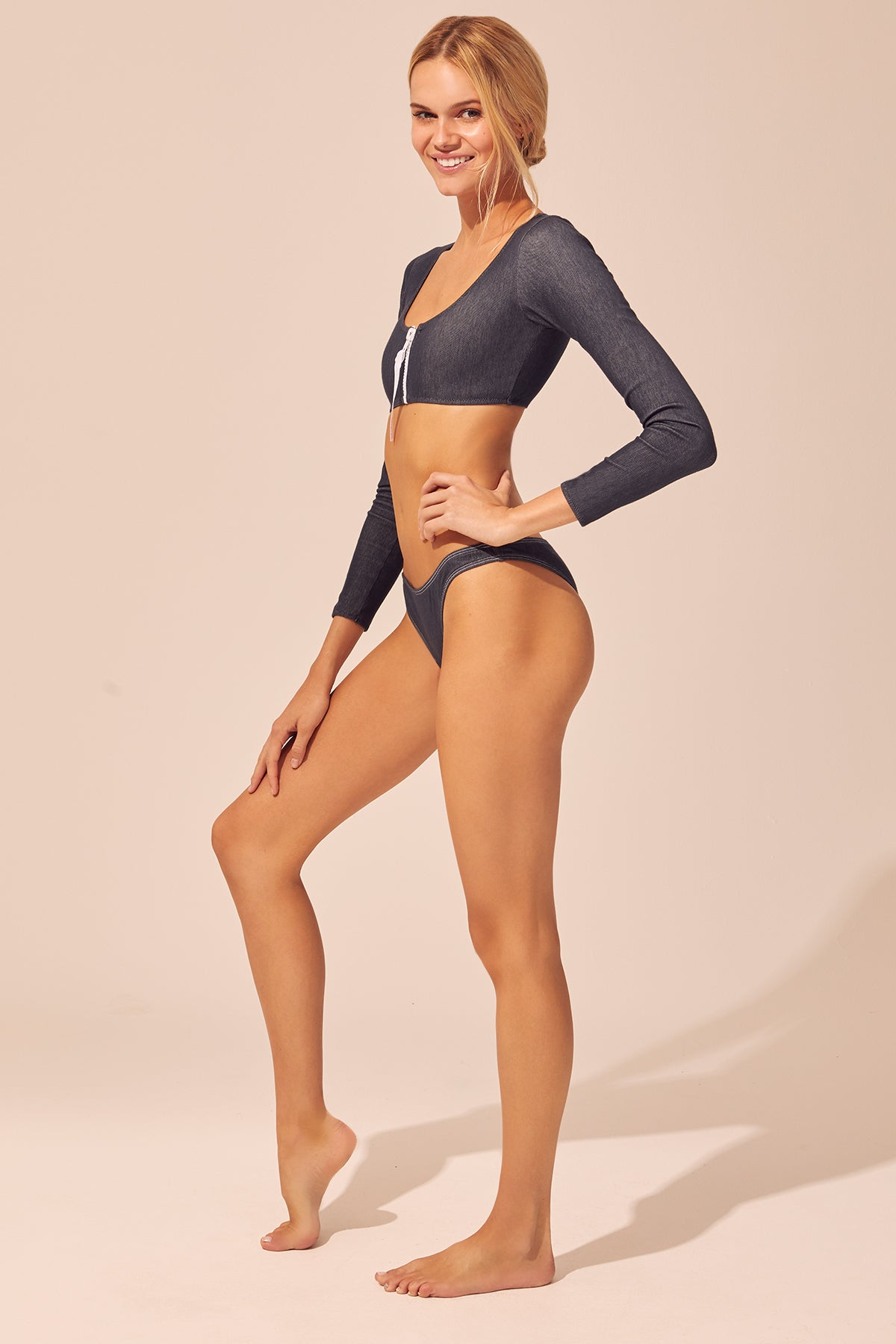 The Montauk Long Sleeve Zip Bikini