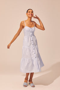 Button Up Tiered Dress