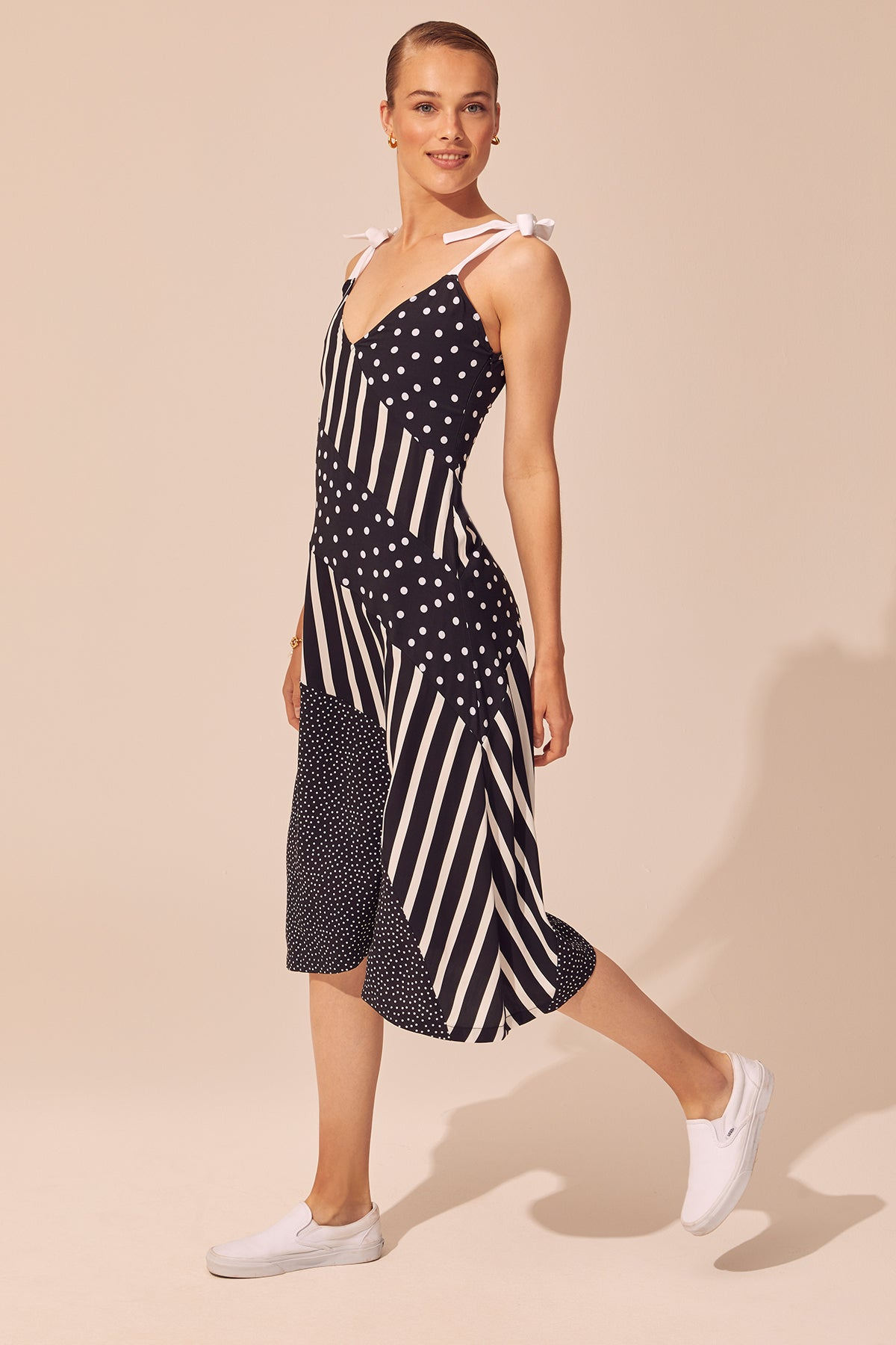 Bias Striped Dress