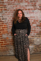 Lay It On The Line Skirt-CURVY