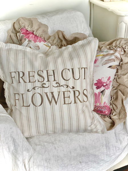 Fresh Cut Flowers Pillow