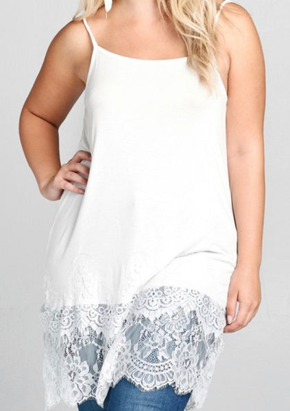 Tiered Lace Top Extender-Curvy