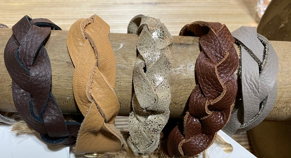 Marjo Braided Leather Bracelets