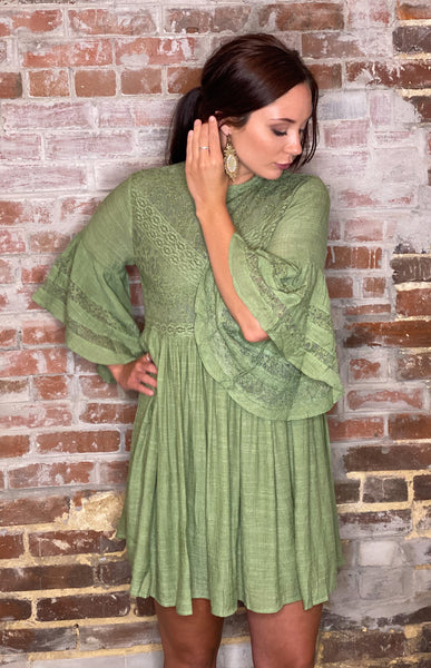 Green Tea Dress-CURVY
