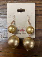 Large Gold Pearl Earrings