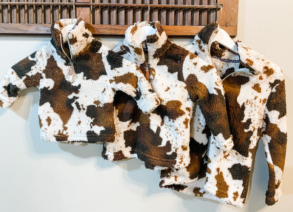 Cow Sherpa Pullover