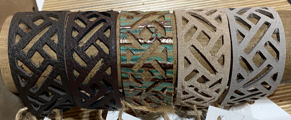 Marjo Laser Cut Leather Bracelets