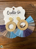 Cre8tv Qn Rattan & Raffia Earrings