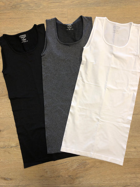Thick Strap Scoop Neck Tank