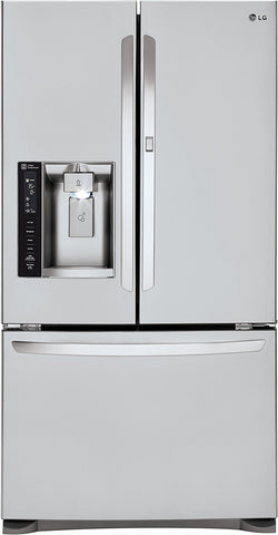 LG 23.9CU.FT French Door Fridge LFXS24566S-Refurbished, ONLY PICK-UP at Samtack