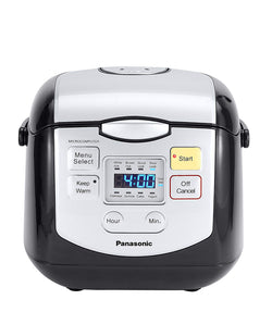 Panasonic 4 Cup (Uncooked) Microcomputer Controlled Rice Cooker, Black/Silver, refurbished, 3 months warranty