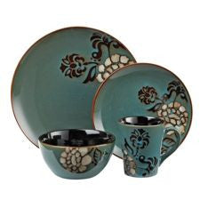 Cuisinart 16PC Dinnerware Peony Collection ST1BPC, ONLY PICK-UP at Samtack
