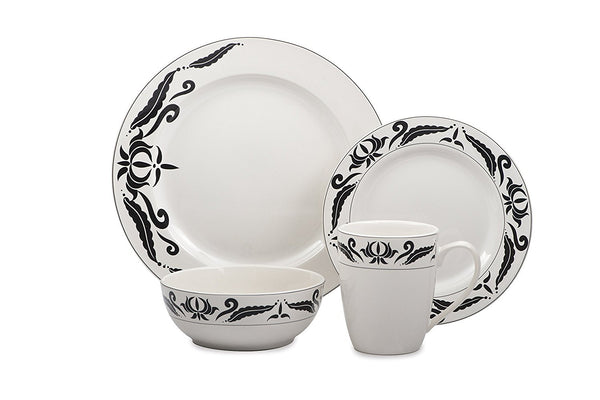 Cuisinart 16PC Dinnerware Windflower Collection ST1WDC, ONLY PICK-UP at Samtack