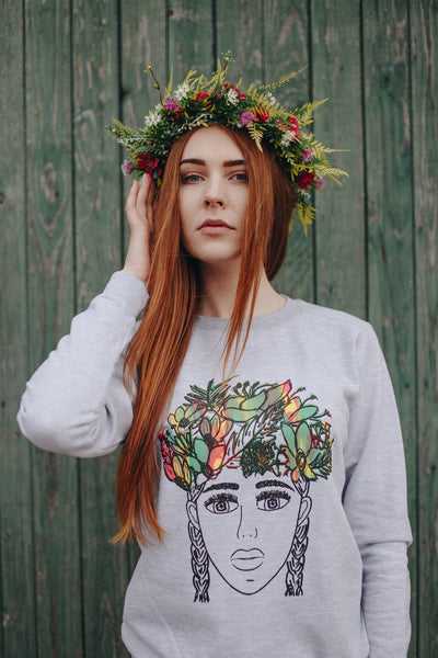 Sweatshirt. FLOWERS
